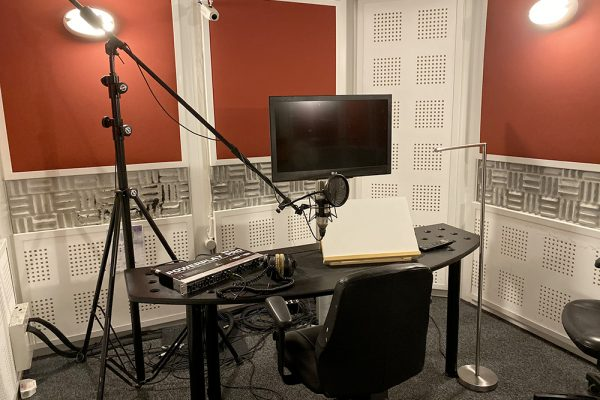 Podcast recording studio, Voice-over... tells a lot of stories